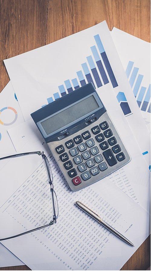 Photo d'outils de comptabilité.